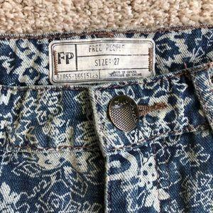 Free People Distressed Vintage Looking Shorts